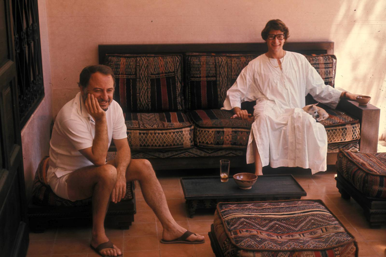 Pierre Berge And Yves Saint Laurent In Marrakech_1977 (c) Guy Marineau