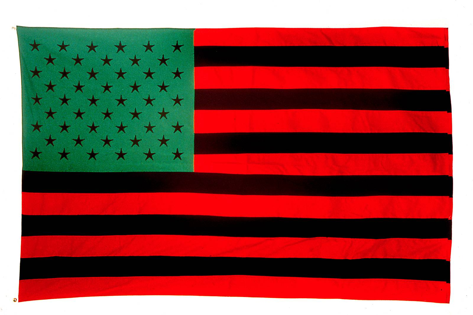 exploring african american art s long fight against racism amuse african american flag david hammons 1990 142 2 × 223 5 cm © david hammons