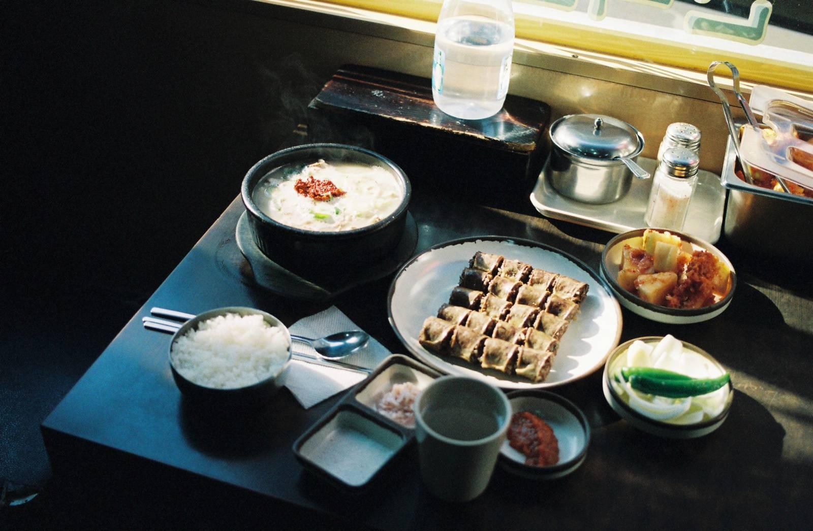 Hanguk Soondae's blood sausage and porridge soup