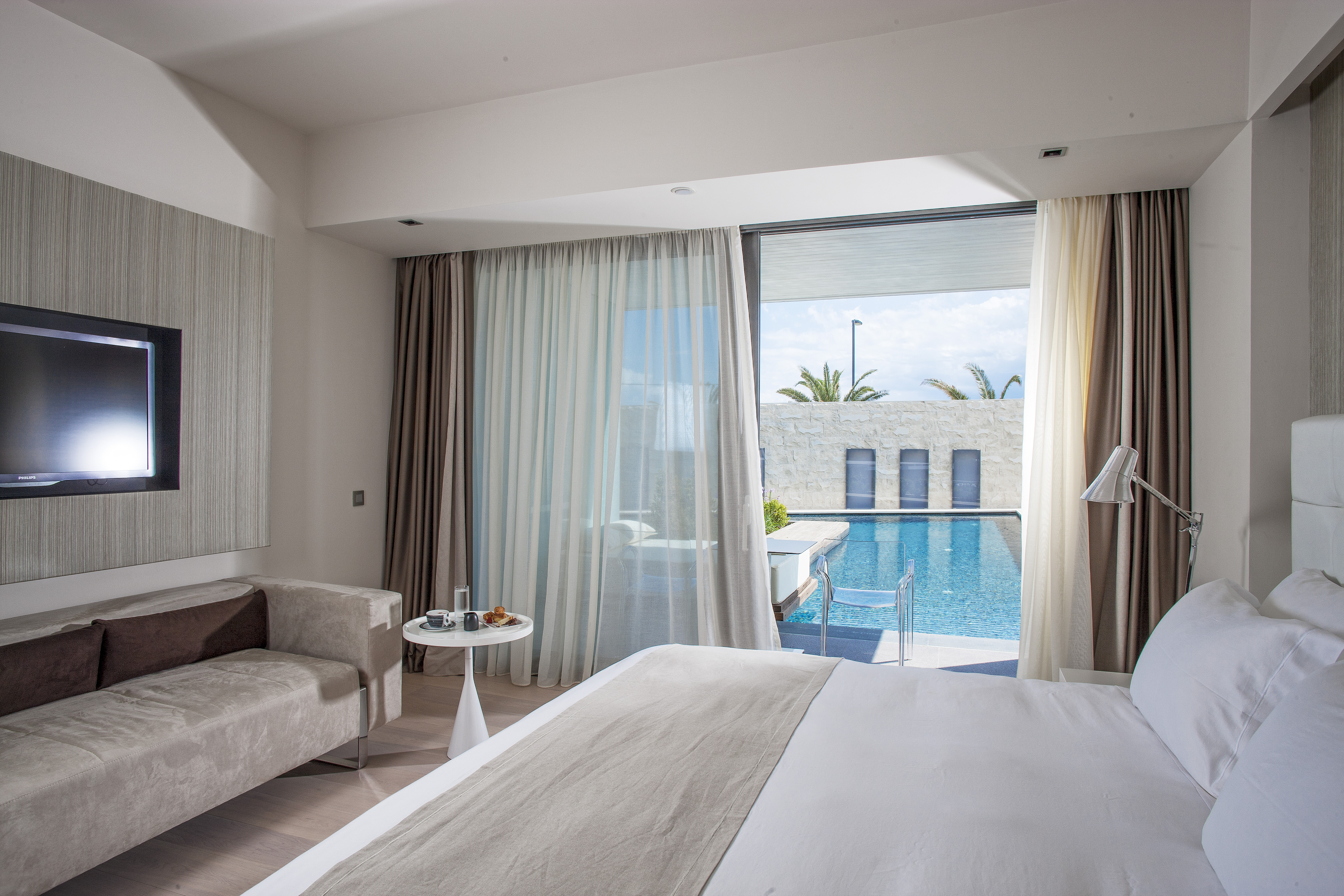 When choosing your hotel room usually theres not much difference between a regular double room and a suite but aqua blu hotel spa which is a member of